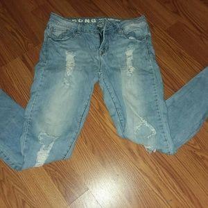 Rocker skinny jeans